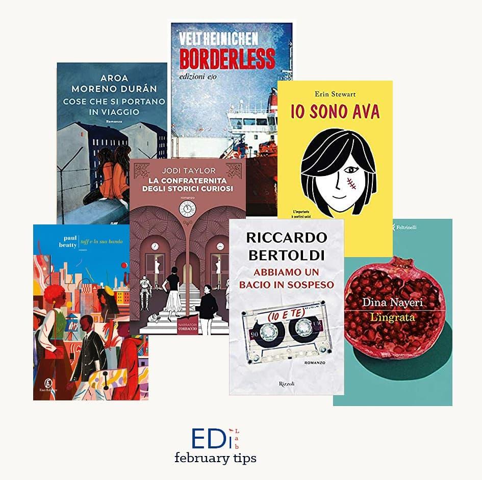 Collage EdiLab copertine novità editoriali febbraio 2020 libri casa editrice digitale books